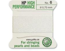 HP ad alte prestazioni filo di seta bianco INCORDATRICE 0.70mm Griffin Taglia 6-FT799