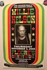 """WILLIE NELSON Live in Helotes TX (2005) Concert Poster country """"Countryman"""""""