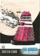 Dr Doctor Who Big Screen Additions Sketch Card by Robert Hack of a Red Dalek