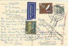 "Luftpostbrief nach Tunesien ""retour à l' envoyeur"""