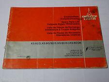 Teilekatalog / Ersatzteilliste / Parts List Deutz Fahr Kreiselschwader KS 60 D