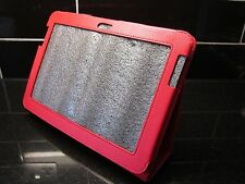 Red Samsung Galaxy Note N8000 Tablet Litchi Leather Carry Case Cover/Angle Stand