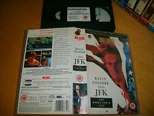 VHS *JFK - (Kevin Costner)* 1991 Warner Home Video - Rare Directors Cut Edition!