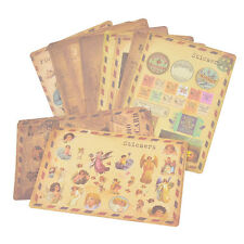 10 Sheets/Lot Vintage Paper Stickers DIY Scrapbooking Album Diary Craft Decor