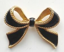 Enamel Black Bow Enhancer for Necklace Kjl Kenneth J Lane Avon Designer Signed