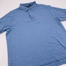 Polo Ralph Lauren Polo Shirt Mens 2XB Big Baby Blue Pony Cotton Short Sleeve