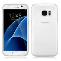 For Samsung GALAXY S7 Hybrid TPU Rubber Silicone Gel Hard Clear Case Cover Thin