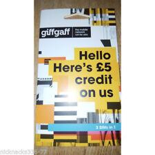 FREE £ 6 credito Giffgaff scheda SIM 1st Class Post Nano Mini Micro o2 3 tre 120%