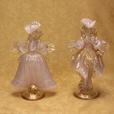 VETRO DI MURANO dama e cavaliere 2. MURANO GLASS lady and gentleman 2