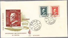ITALIA BUSTA FDC VENETIA  1959 100° FRANCOBOLLI SICILIA  ANNULLO SPECIALE ROMA