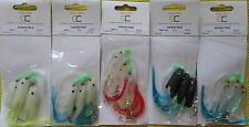 5 HOKKI Rigs in Different Colour,Sea fishing Macekerel Cod Rigs Feather
