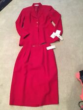 NWT Saville Red Skirt Suit Size 10 Retail 224