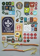Scouts - Large Collection - Badges - Lanyards + More - Vintage  1950's - 1970's