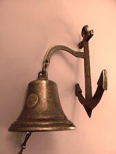 Ankerglocke maritime Glocken Klingel Messing brüniert Dekoration Schiffsglocke3