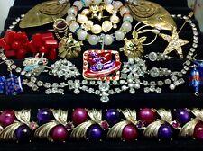 Jewelry Bogoff, Coro. (E37) Lot Of Vintage Rhinestone, Crystal/Glass.