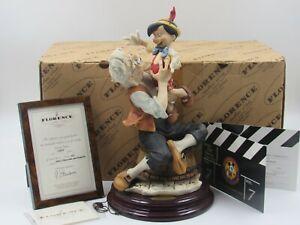 Giuseppe Armani Walt Disney Pinocchio and Geppetto Figure 0490C Box Hand Signed