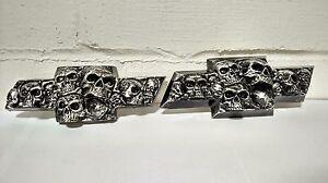 Silverado/Avalanche/Tahoe Custom Skull Emblems Set (2000-13)  - Brushed Silver