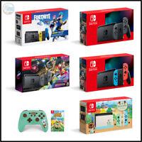 Nintendo Switch Mario Kart/Fortnite/Neon/Gray/Animal Crossing Bundle