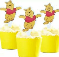 24 PCS WINNIE THE POOH BEAR CUPCAKE CAKE TOPPERS BIRTHDAY PARTY SUPPLIES
