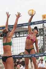VOLLEYBALL GIRLS Beach FOUND PHOTO Color FREE SHIPPING Professional Bikini 716