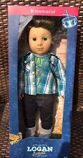"""American Girl Logan Everett 18 """" Doll NIB NRFB 1st Boy Tenney Grant Bandmate"""