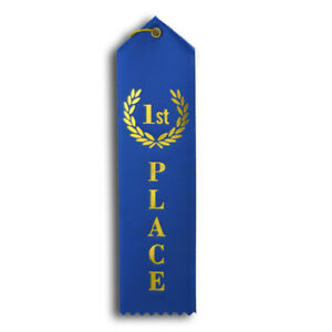 1st First Place Award Ribbons 2x8 (pack of 5)