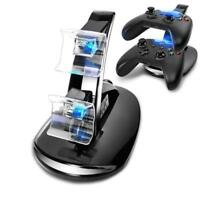 BLACK DUAL USB CHARGER DOCKING STATION CHARGING STAND FOR XBOX ONE CONTROLLER GA