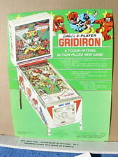 1977 Gottlieb GRIDIRON Pinball Advertising Flyer