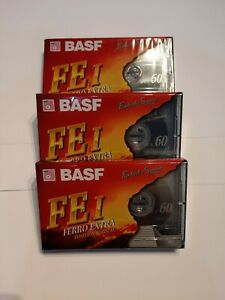 Lot 3 Cassette audio BASF  FE I  60, Ferro Extra .