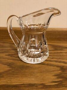 Vintage Waterford Crystal Cream Jug 11cm Tall, Signed