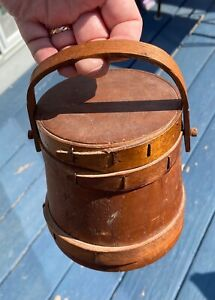 "Old small 5"" Firkin Sugar bucket  great patina & excellent condition"