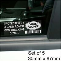 5 x Land Rover GPS Tracking Device Security Stickers-Defender-Car Alarm Tracker