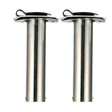 Pair 90D ROD Holders Stainless Steel Rubber Cap, Liner, Gasket 7739S90
