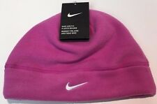 NIKE Women's Arctic Fleece Beanie Running Cap Pink One Size NWT