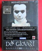 3 dvd + booklet,rare,teatro,wolfgang amadeus mozart, don giovanni,joseph losey,v