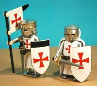 Playmobil custom 2 caballero cruzado templario crusader Chevalier Temple knight