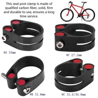 35/31.8/27.2/31.6/30.8mm Bike Cycling Saddle Bicycle Seatpost Clamp Carbon Fiber
