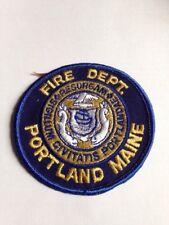 PORTLAND MAINE FIRE DEPT PATCH UNUSED