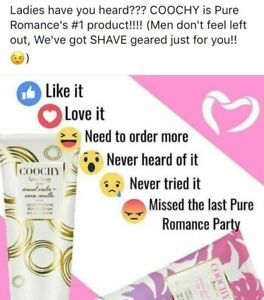 Coochy Love Story Conditioning Shave Cleam Pure Romance