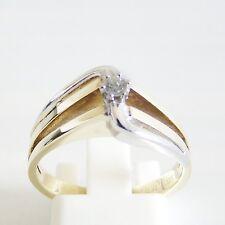 Ring Gold 585er Brillant Goldschmuck 0,07 ct. Edelstein Bi-Color 14 kt. Diamant