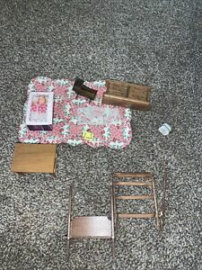 Dollhouse  Miniatures 1:12 Vintage Mixed Lot Furniture And Accessories