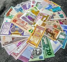 30 PIECES - WORLDWIDE BANKNOTES COLLECTION. ALL DIFFERENT. ALL UNC. ALL GENUINE.