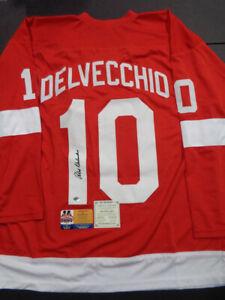 Alex Delvecchio Detroit Red Wings Autographed Custom Replica Jersey size XL