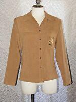 Vintage R&K Original Petite Button-Up Tie Back Floral Embroidered Jacket Size 8