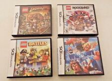 4 Nintendo DS Games Lego Indiana Jones Battles Rockband ABC's Wipe Out the Game