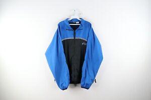 Vintage 90s Asics Mens XL Spell Out Color Block Reflective Windbreaker Jacket
