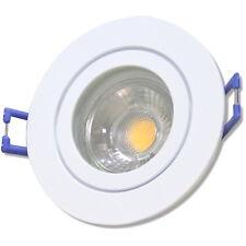 Weiss | 7W | Dimmbar | LED Bad Einbaustrahler Marina | 220Volt | IP44 | 4000K