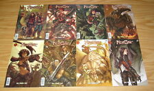 Neozoic #1-8 VF/NM complete series - humans and dinosaurs co-exist - RED 5 set