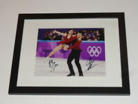 ALEX & MAIA SHIBUTANI SIGNED FRAMED MATTED 8X10 PHOTO 2018 OLYMPICS SKATING A