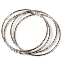 HK- 4Pcs  Chinese Linking Rings Lock Close Up Magnetic Show Stage Magic Trick ON